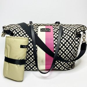 Kate Spade 'Adaira' Canvas Diaper Bag w/Change Pad